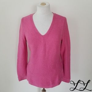 Talbots Sweater Pink Knit Cotton Casual Comfy